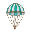 striped parachute icon image vector image