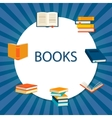 Background with books set vector image
