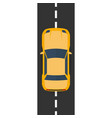 highway traffic concept with top view cars on vector image