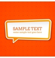 Speech bubble at seamless background vector image