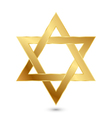 golden Magen David star of David vector image