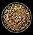 3d baroque round mandala pattern ornamental vector image vector image
