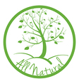 A green all natural label vector image vector image