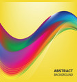 abstract color waves of background vector image vector image