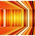 Abstract yellow and orange warped stripes vector image vector image