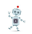 ai artificial intelligence technology robot vector image vector image