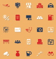 Application classic color icons with shadow vector image vector image