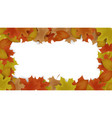 autumn frame background decor with autumn maple vector image vector image