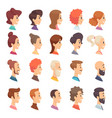 avatars profile persons male and female different vector image vector image