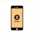 Bitcoin digital assets currency in smart phone