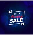 black friday sale blue background design template vector image vector image