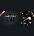 black friday template and gold design vector image vector image