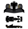 black racing car vector image vector image