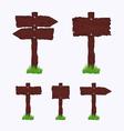 Blank Dark Wooden Signs vector image vector image