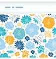 Blue and yellow flower silhouettes torn horizontal vector image vector image