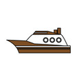 boat tourist vector image vector image