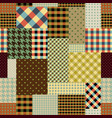 brown retro patchwork vector image vector image