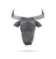 Bull head abstract isolated vector image