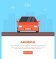 car rental landing page with place for text vector image