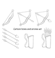 Cartoon bows and arrows vector image vector image