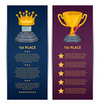 championship awards ceremony banners set vector image vector image
