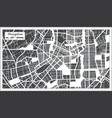 changchun china city map in retro style outline vector image vector image