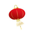 chinese red lantern isolated on white vector image vector image
