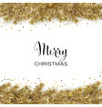 christmas card with gold christmas tree and vector image vector image