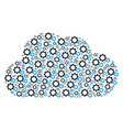 cloud shape of gears icons vector image