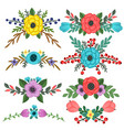 collection of flower bouquet embellishments vector image