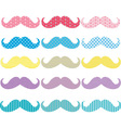 Colorful Mustaches Pattern Collections vector image vector image