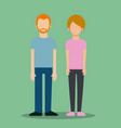 couple avatar business people together vector image