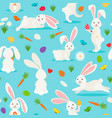 Cute white rabbit seamless pattern