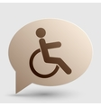Disabled sign Brown gradient icon on vector image vector image