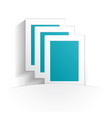 documents icon paper vector image vector image
