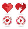 donate icon with red heart vector image