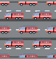 fire truck car seamless vector image vector image