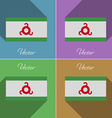 Flags Ingushetia Set of colors flat design and vector image vector image