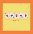 flat shading style icon flush vector image vector image