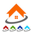 global housing logo icon symbol vector image vector image