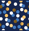 gold and blue polka dot luxury seamless pattern vector image vector image