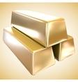 gold bullion vector image