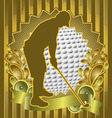 Golfer vintage design vector | Price: 1 Credit (USD $1)