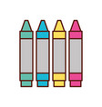 graphic design colors crayons pencil draw vector image