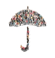 group people shape umbrella vector image