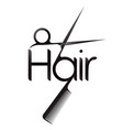 hair symbol with scissor and comb vector image vector image