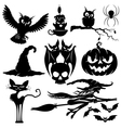 Halloween black signs vector image vector image