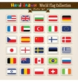 Hand Draw World Flags Icon Set vector image vector image