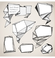 hand drawn triangle bubbles vector image