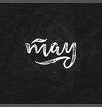 handwritten name of month - may vector image vector image